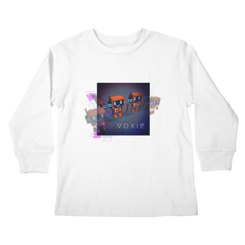 FY - Cyberpunk Voxie Kids Longsleeve T-Shirt by My pixEOS Artist Shop