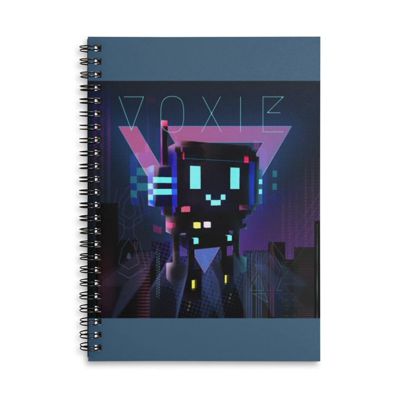 FY - Voxie Cyberpunk 2 Accessories Lined Spiral Notebook by My pixEOS Artist Shop