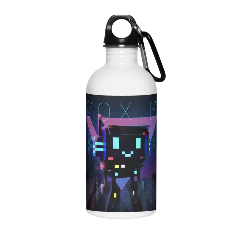 FY - Voxie Cyberpunk 2 Accessories Water Bottle by My pixEOS Artist Shop