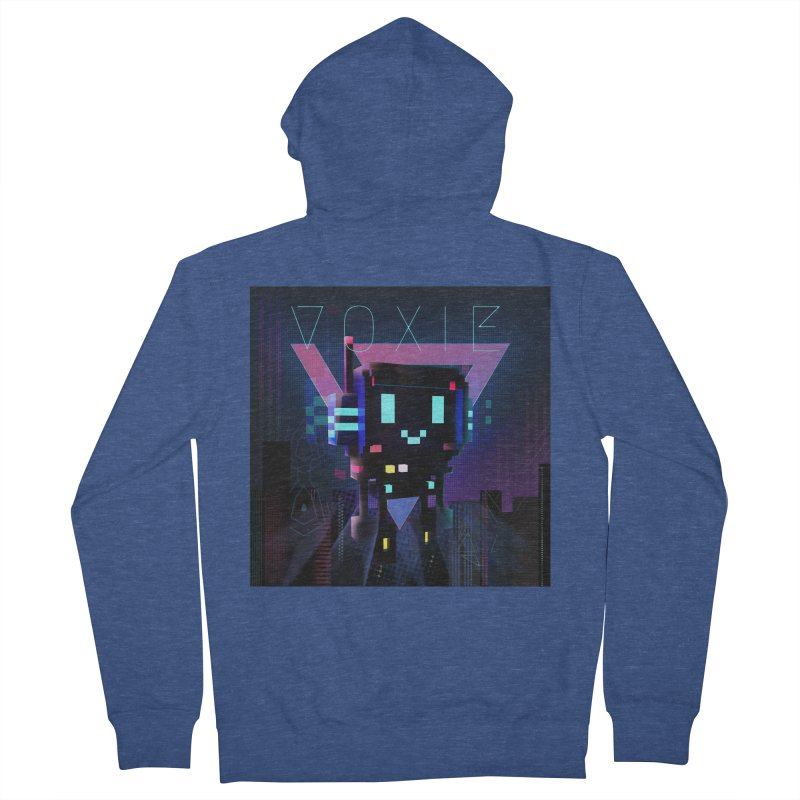 FY - Voxie Cyberpunk 2 Men's French Terry Zip-Up Hoody by My pixEOS Artist Shop