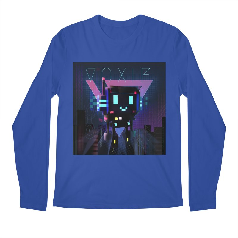 FY - Voxie Cyberpunk 2 Men's Regular Longsleeve T-Shirt by My pixEOS Artist Shop