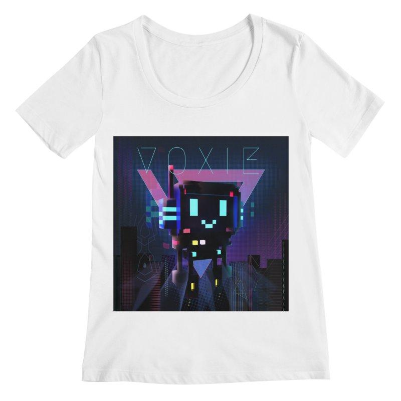 FY - Voxie Cyberpunk 2 Women's Regular Scoop Neck by My pixEOS Artist Shop