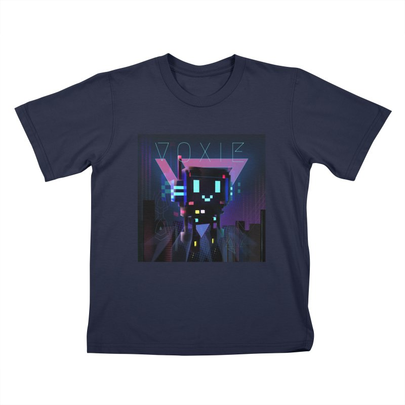FY - Voxie Cyberpunk 2 Kids T-Shirt by My pixEOS Artist Shop