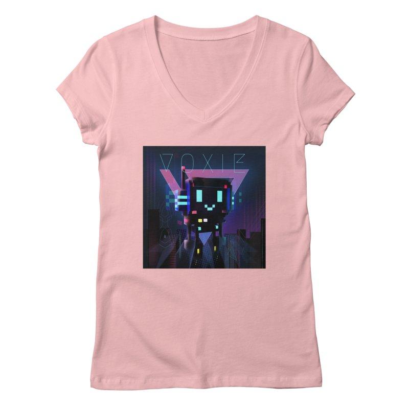 FY - Voxie Cyberpunk 2 Women's Regular V-Neck by My pixEOS Artist Shop