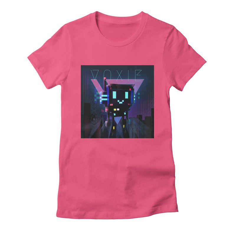 FY - Voxie Cyberpunk 2 Women's Fitted T-Shirt by My pixEOS Artist Shop