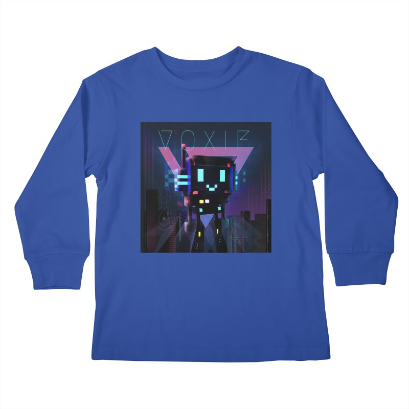 FY - Voxie Cyberpunk 2 Kids Longsleeve T-Shirt by My pixEOS Artist Shop
