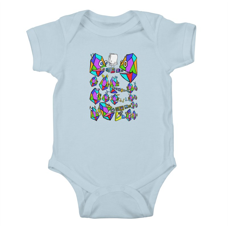 JC - Epic pixEOS Gathering Kids Baby Bodysuit by My pixEOS Artist Shop