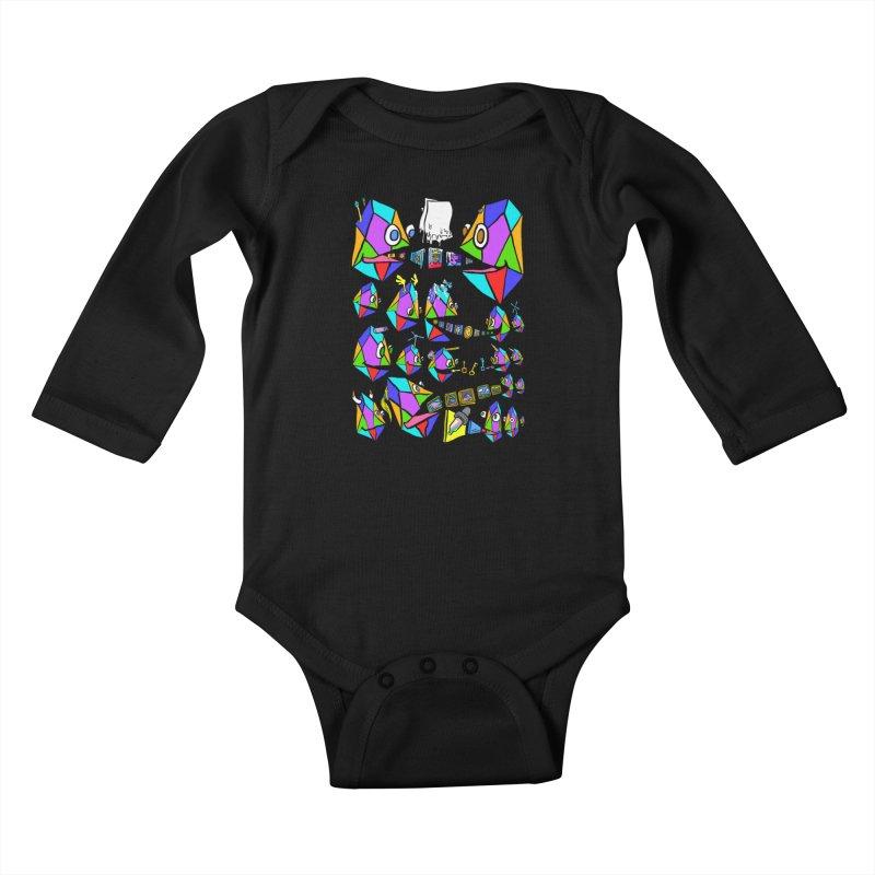 JC - Epic pixEOS Gathering Kids Baby Longsleeve Bodysuit by My pixEOS Artist Shop