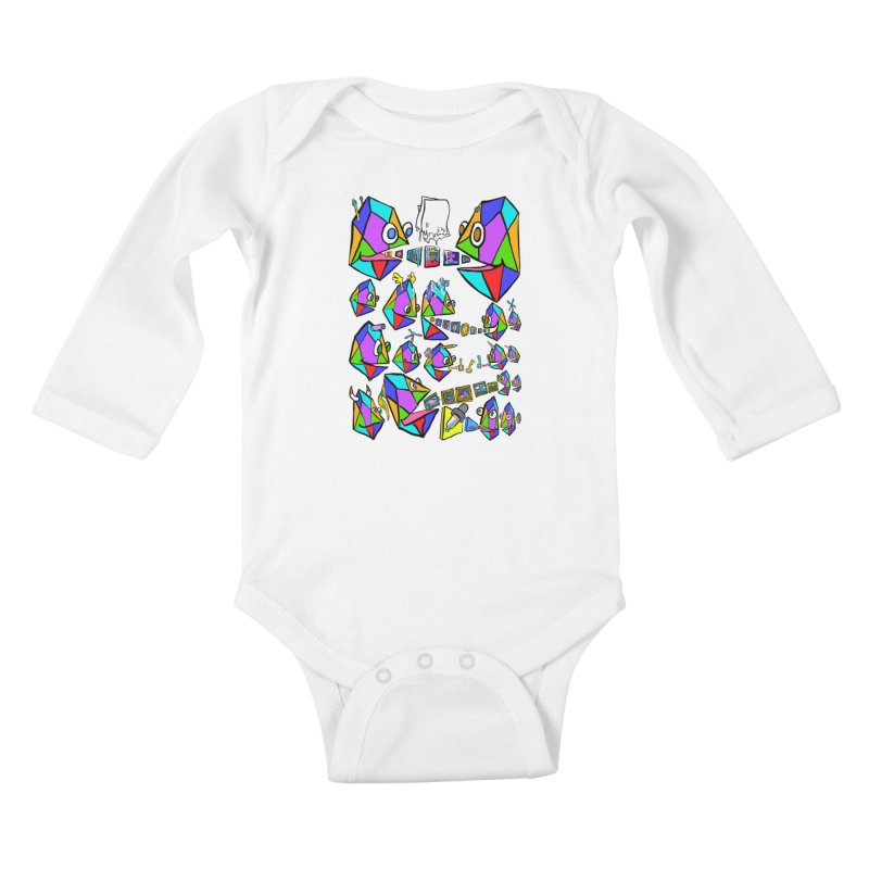 JC - Epic pixEOS Gathering Kids Baby Longsleeve Bodysuit by My pixEOS Artist Shop