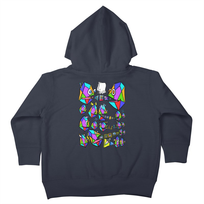JC - Epic pixEOS Gathering Kids Toddler Zip-Up Hoody by My pixEOS Artist Shop