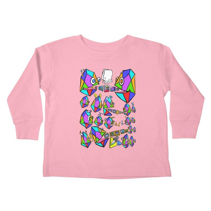 JC - Epic pixEOS Gathering Kids Toddler Longsleeve T-Shirt by My pixEOS Artist Shop