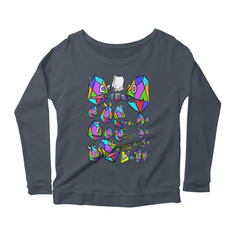 JC - Epic pixEOS Gathering Women's Scoop Neck Longsleeve T-Shirt by My pixEOS Artist Shop