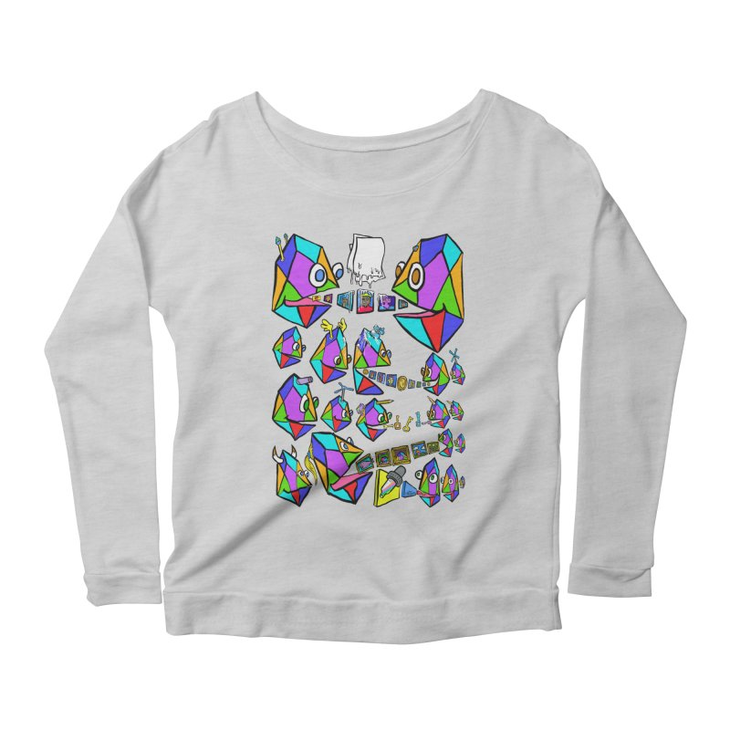 JC - Epic pixEOS Gathering Women's Scoop Neck Longsleeve T-Shirt by My pixEOS Artist Shop