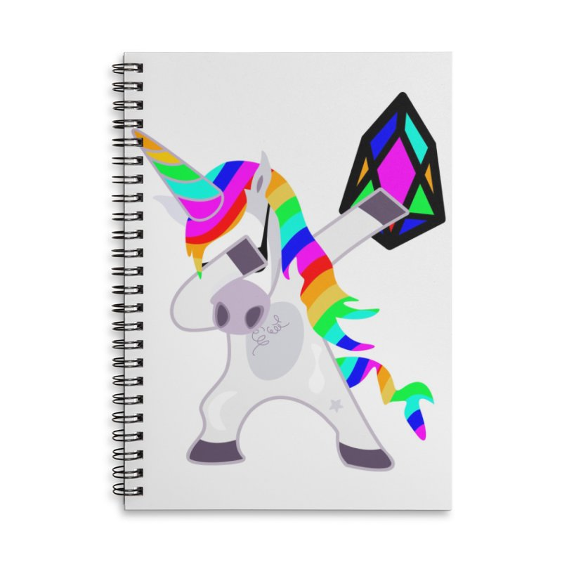 YM - Dabing Unicorn Accessories Lined Spiral Notebook by My pixEOS Artist Shop