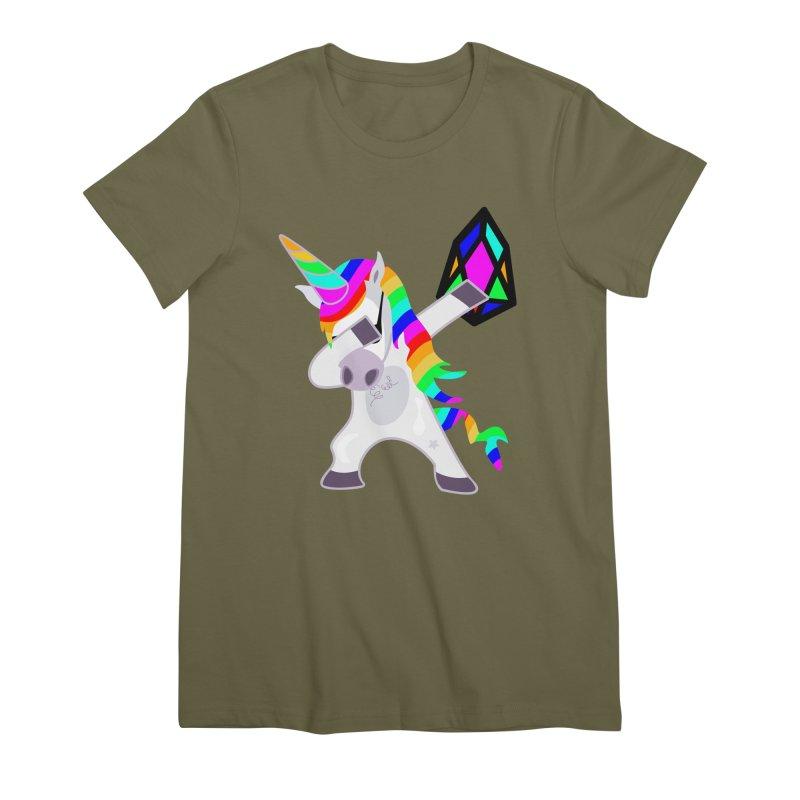 YM - Dabing Unicorn Women's Premium T-Shirt by My pixEOS Artist Shop
