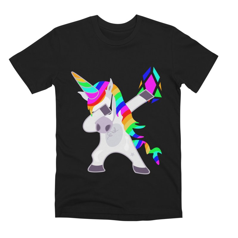 YM - Dabing Unicorn Men's Premium T-Shirt by My pixEOS Artist Shop