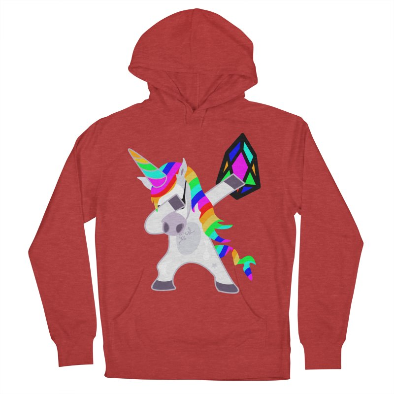 YM - Dabing Unicorn Women's French Terry Pullover Hoody by My pixEOS Artist Shop