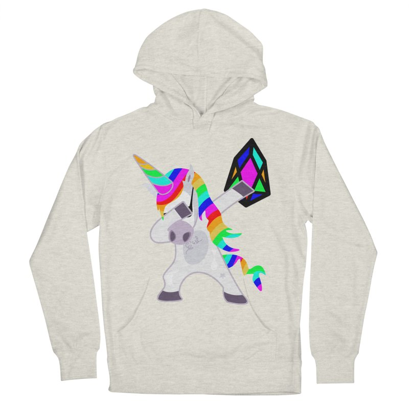 YM - Dabing Unicorn Men's French Terry Pullover Hoody by My pixEOS Artist Shop