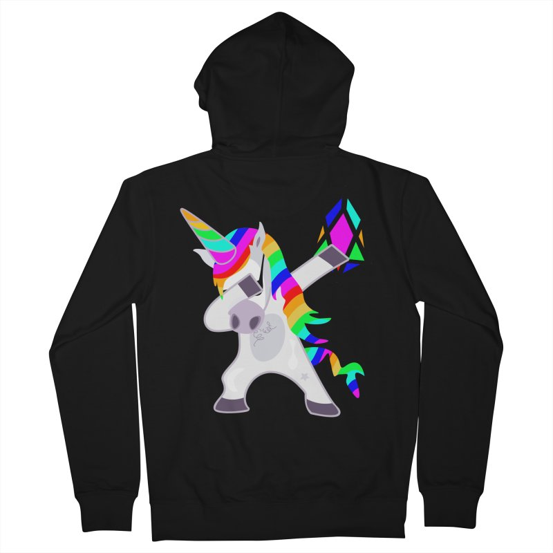 YM - Dabing Unicorn Women's French Terry Zip-Up Hoody by My pixEOS Artist Shop