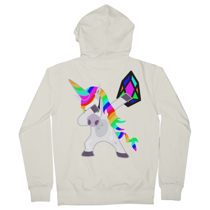 YM - Dabing Unicorn Men's French Terry Zip-Up Hoody by My pixEOS Artist Shop