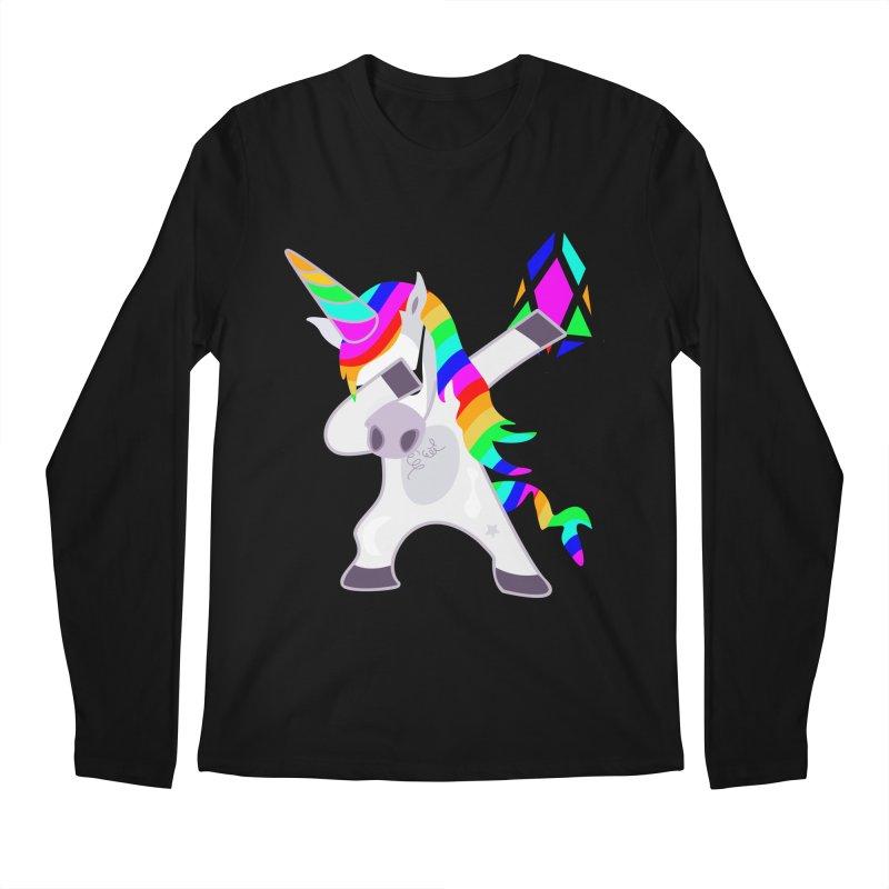YM - Dabing Unicorn Men's Regular Longsleeve T-Shirt by My pixEOS Artist Shop