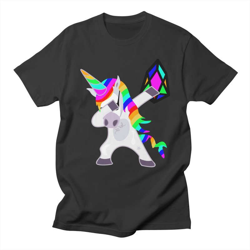 YM - Dabing Unicorn Men's Regular T-Shirt by My pixEOS Artist Shop