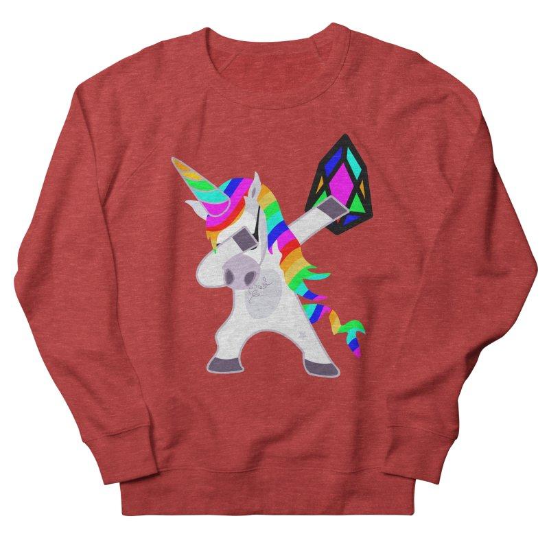 YM - Dabing Unicorn Women's French Terry Sweatshirt by My pixEOS Artist Shop