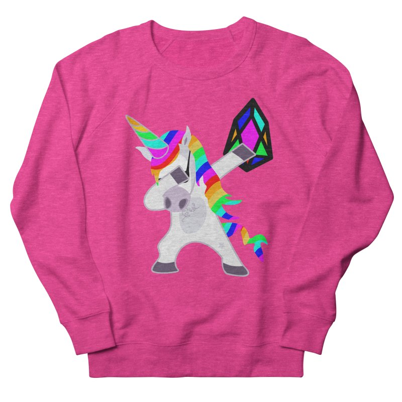 YM - Dabing Unicorn Women's French Terry Sweatshirt by My pixEOS Artist Shop