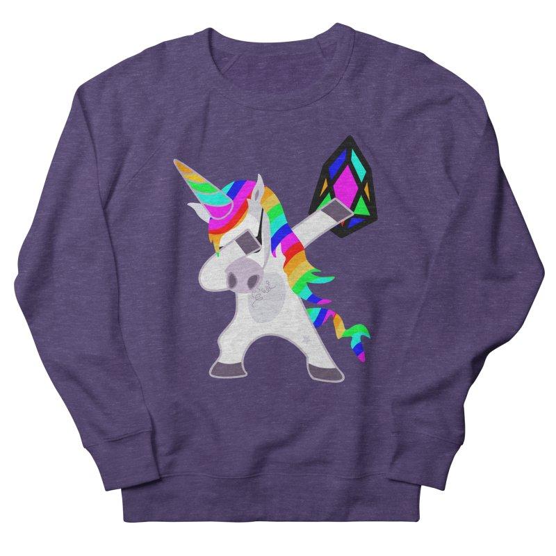 YM - Dabing Unicorn Men's French Terry Sweatshirt by My pixEOS Artist Shop