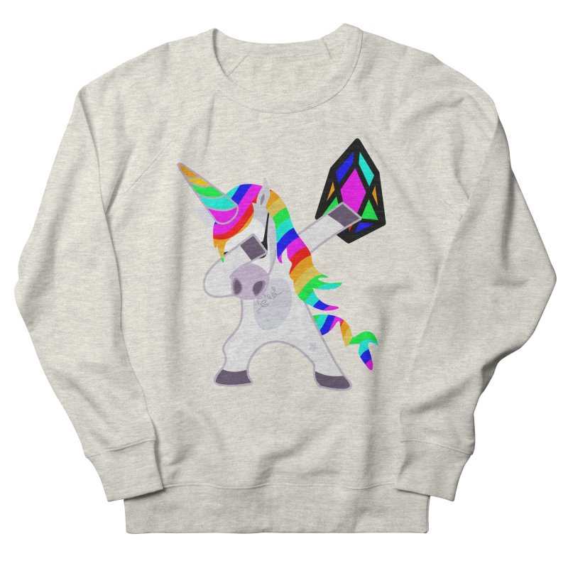 YM - Dabing Unicorn Men's French Terry Sweatshirt by My pixEOS Artist Shop