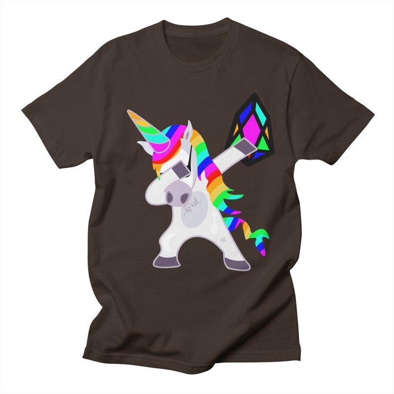 YM - Dabing Unicorn Men's Regular T-Shirt by My pixEOS Artist Shop