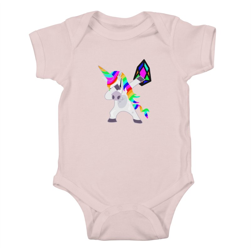 YM - Dabing Unicorn Kids Baby Bodysuit by My pixEOS Artist Shop