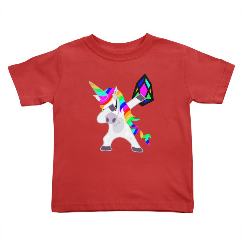 YM - Dabing Unicorn Kids Toddler T-Shirt by My pixEOS Artist Shop