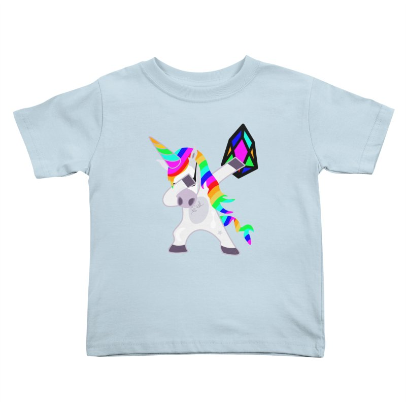 YM - Dabing Unicorn Kids Toddler T-Shirt by My pixEOS Artist Shop