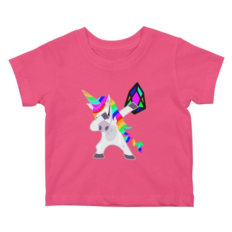 YM - Dabing Unicorn Kids Baby T-Shirt by My pixEOS Artist Shop