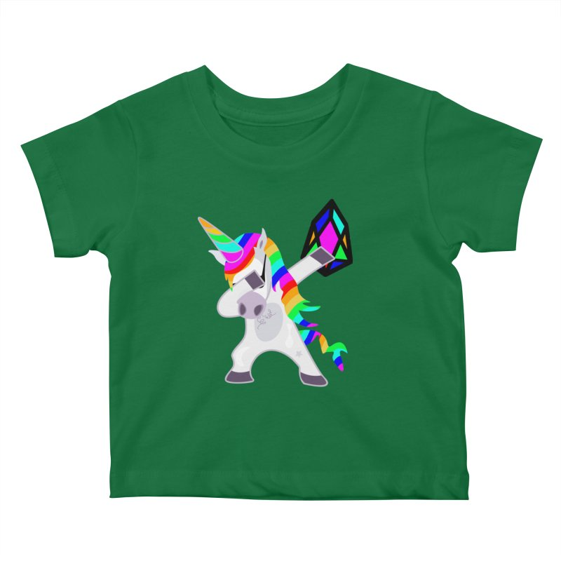 YM - Dabing Unicorn Kids Baby T-Shirt by My pixEOS Artist Shop