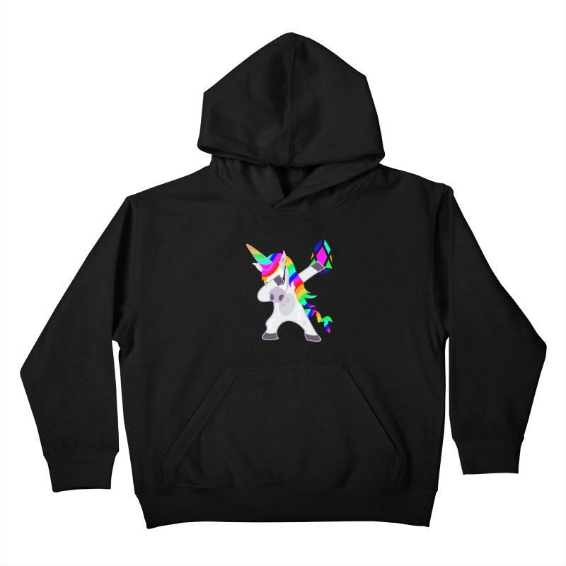 YM - Dabing Unicorn Kids Pullover Hoody by My pixEOS Artist Shop