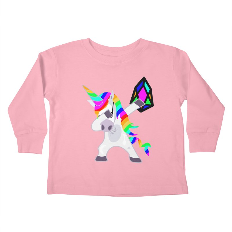 YM - Dabing Unicorn Kids Toddler Longsleeve T-Shirt by My pixEOS Artist Shop