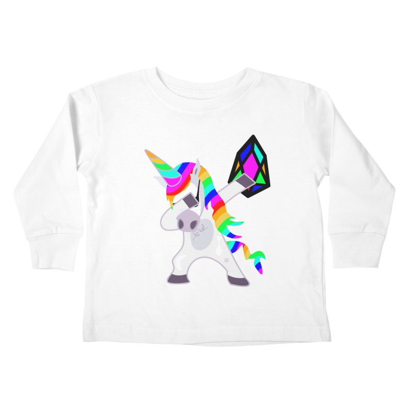 YM - Dabing Unicorn Kids Toddler Longsleeve T-Shirt by My pixEOS Artist Shop
