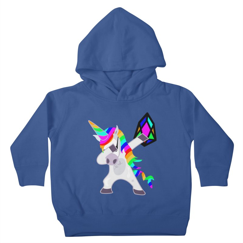 YM - Dabing Unicorn Kids Toddler Pullover Hoody by My pixEOS Artist Shop