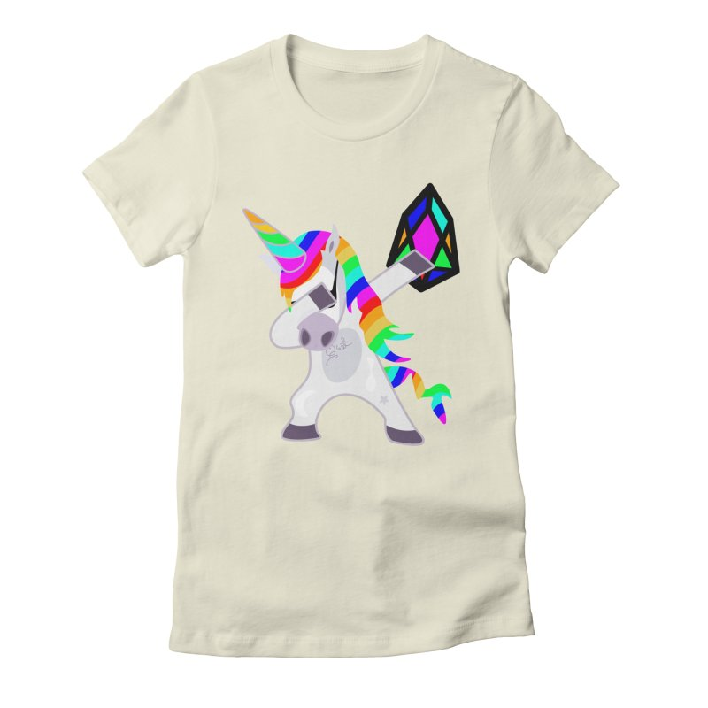 YM - Dabing Unicorn Women's Fitted T-Shirt by My pixEOS Artist Shop