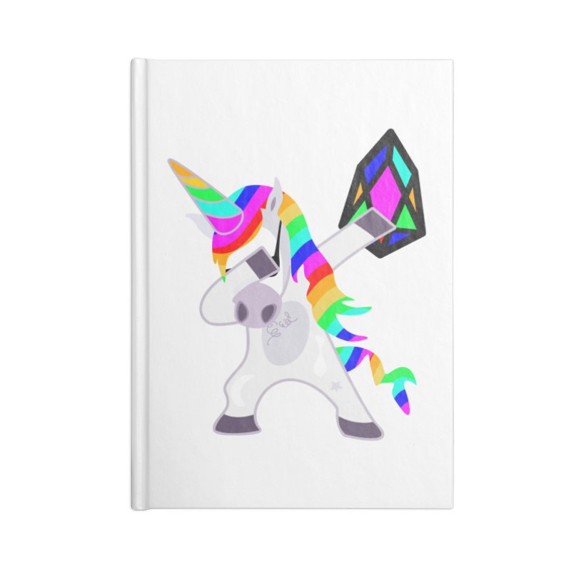 YM - Dabing Unicorn Accessories Lined Journal Notebook by My pixEOS Artist Shop