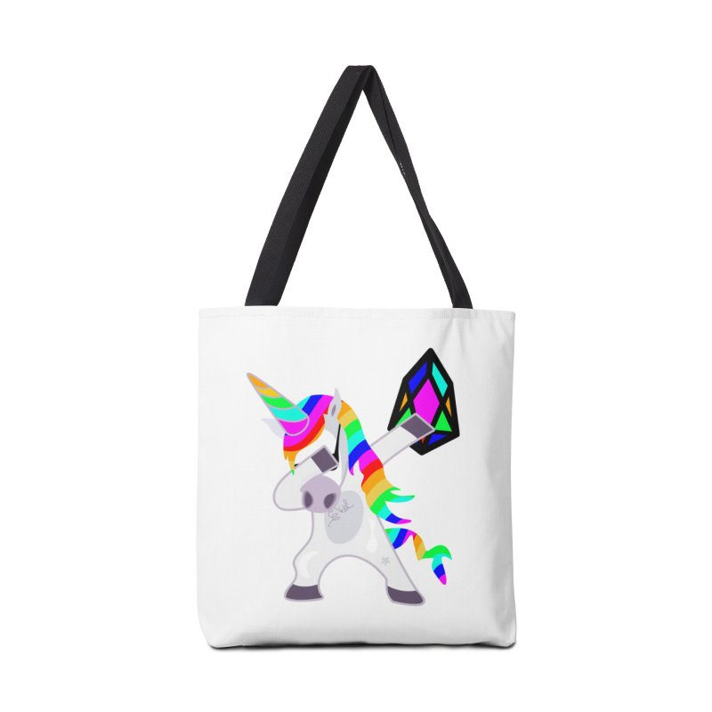 YM - Dabing Unicorn Accessories Tote Bag Bag by My pixEOS Artist Shop