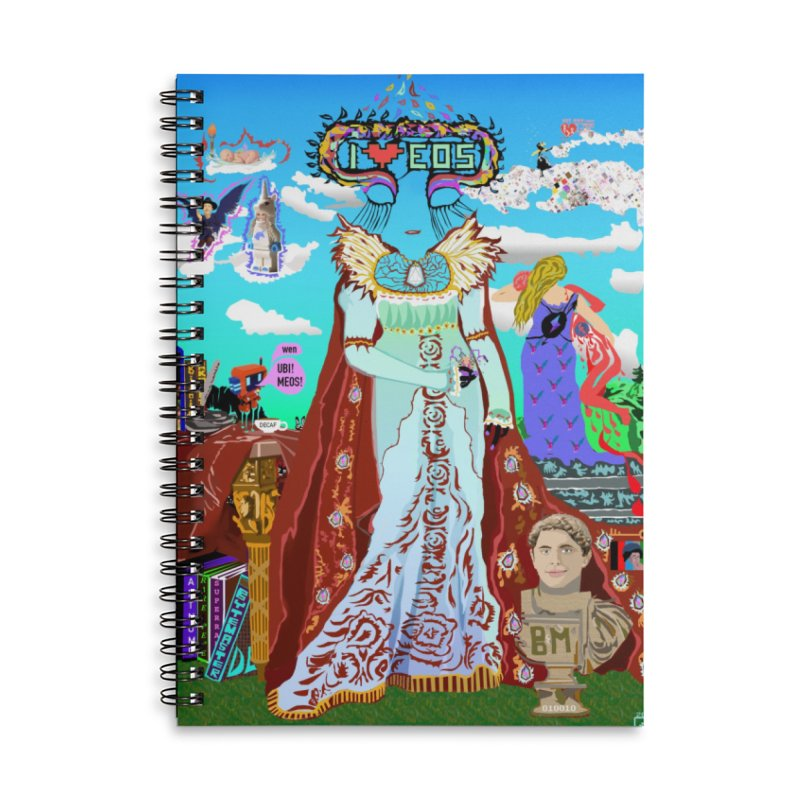 SB - Crypto Royalty Accessories Lined Spiral Notebook by My pixEOS Artist Shop