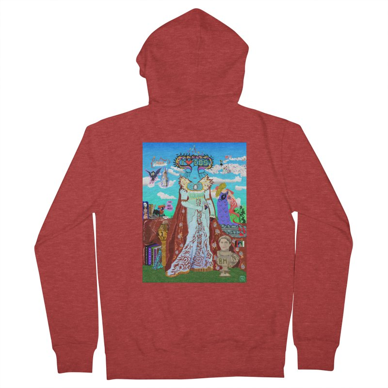 SB - Crypto Royalty Men's French Terry Zip-Up Hoody by My pixEOS Artist Shop