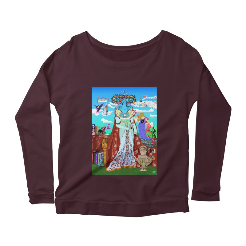 SB - Crypto Royalty Women's Scoop Neck Longsleeve T-Shirt by My pixEOS Artist Shop