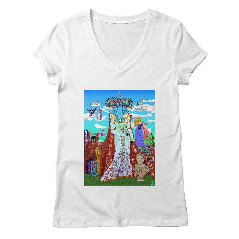 SB - Crypto Royalty Women's Regular V-Neck by My pixEOS Artist Shop