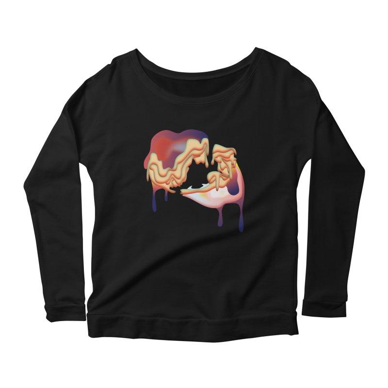 Drops Women's Scoop Neck Longsleeve T-Shirt by PIXLPA Artist Shop