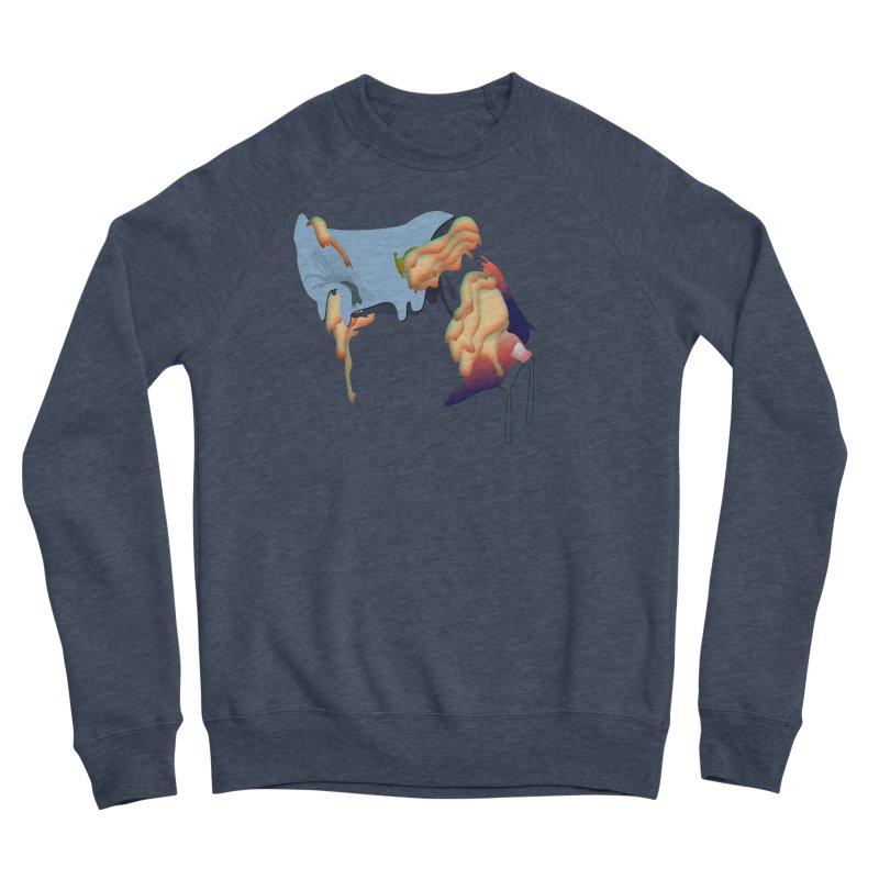 Drips Men's Sponge Fleece Sweatshirt by PIXLPA Artist Shop