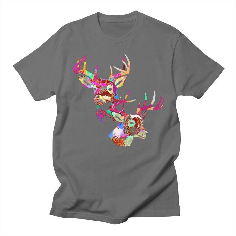 Yes Deer Men's T-Shirt by PIXLPA Artist Shop